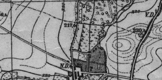 Zawiszów koło Świdnicy na mapie topograficznej z 1930 roku